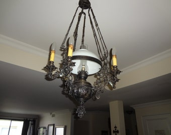 Antique chandelier etsy antique chandelier lamp 19th century aloadofball Images