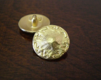 3 - Baker Metal Buttons with Shank Gold Color