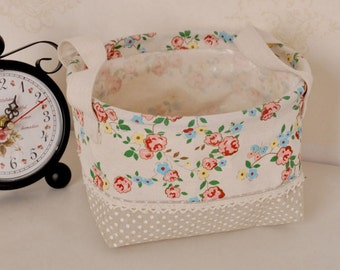 Floral Fabric Laundry/Toy Baskets