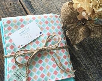 Christmas in July Sale Minky Baby Blanket , Minky Blanket , Baby Blanket , Baby Shower Gift Girl