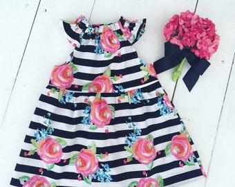 On Sale Girls Black and White Dress - Girls Birthday Dress