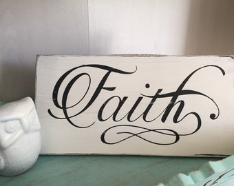 Faith wood sign, hand painted, made to order