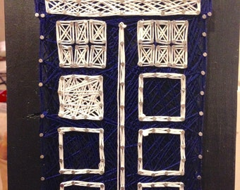 Doctor Who Tardis String Art -- Ready To Ship