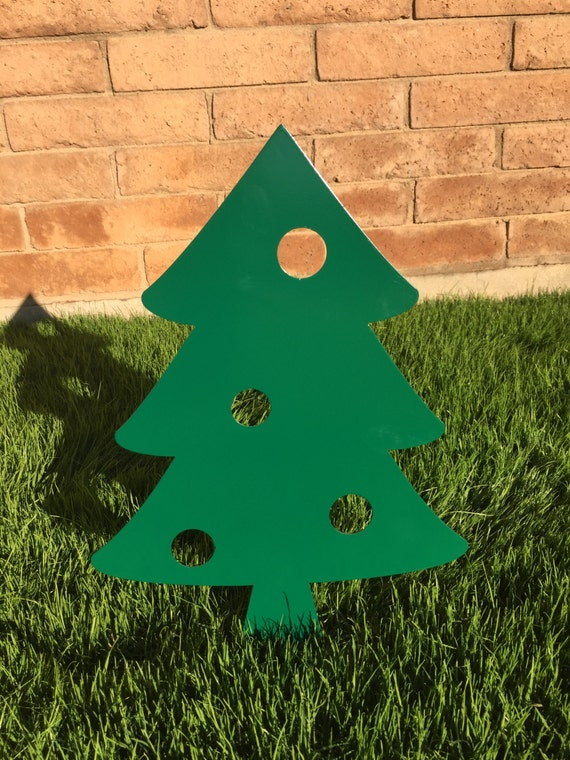 christmas tree 03 metal yard art christmas lawn decor. Black Bedroom Furniture Sets. Home Design Ideas