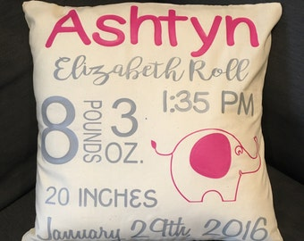 Sale!! baby gift, baby pillow, baby shower gift, child's name pillow, personalized pillow, birthday pillow, christmas gift, newborn gift, ba