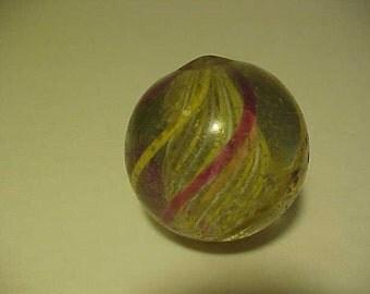 Antique Hand Made German Marble 1 1/2' Swirl Latticinio core New price Reduction Sale