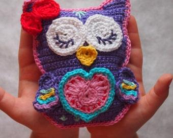 Crochet owl pattern, crochet pattern Scops Owl in Love, crochet owl amigurumi, crochet owl, crochet toy