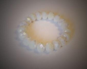 12mm white crystal bracelet