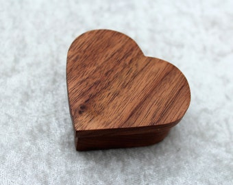 Small wooden heart shaped box