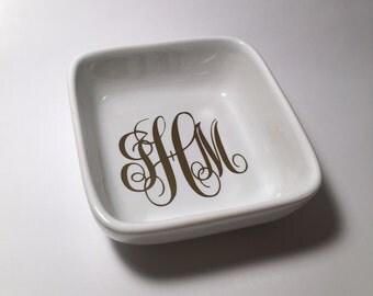 Custom Monogram Decal Jewlery Dish