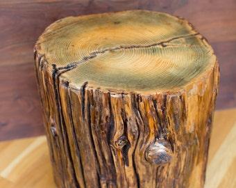 Oregon Coastal Log Stump Side Table