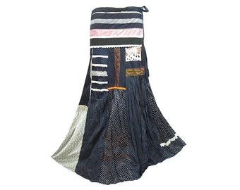 Boho Hippie Patchwork Long Wrap Skirt (M0591)