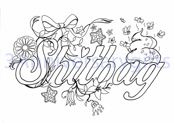swear coloring book pages - photo#22