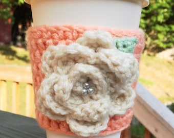 Peach & Cream Flower Cozy