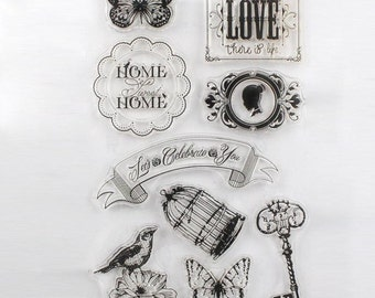 1PCS Home & LoveTransparent Stamp Variety Of Styles Clear Stamp 16 x 11 cm