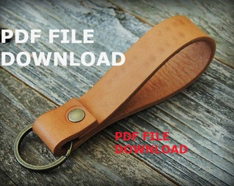 Leather Keychain PDF Template A4 Size. Make Yourself