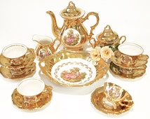 Coffee service / the porcelain from Bavaria Fragonard / 6pers