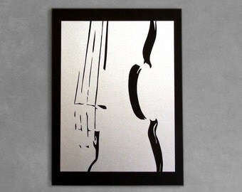 violin, handmade silhouette, wall art