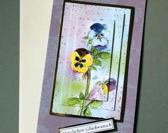 Greeting card greeting card Pansy