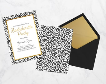 Bachelorette Party Invitation, Printable Bachelorette Party Invitation, Digital Bachelorette Party Invite, Leopard Invitation