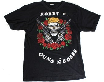 Rare Vintage 1989 Guns N Roses T Shirt Roadie, Large