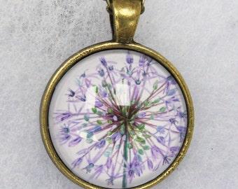 Purple Allium pendant