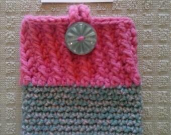 crocheted phone cozy