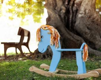Horse wood rocker