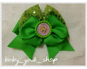 Green Tink Bow