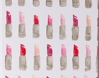 Lipstick: 8x10 or 11x14 Canvas