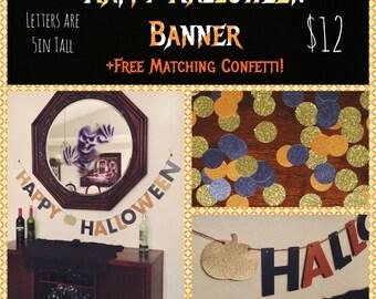 Halloween Banner + BONUS confetti!!