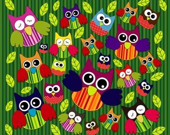 Cute Owl Pattern Vector