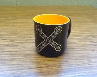 Orange Cross Mug