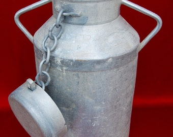 French Vintage Aluminum Milk Churn