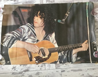 """Rare 70's Marc Bolan poster Pace 1971 .cat nr 171   37"""" X 24 1/2"""" Some damage Look great framed"""
