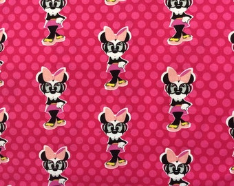 Disney - Minnie's Mouse  Fabric/ Minnie Mouse with Dots /Sold by the Yard/ Yardage Available