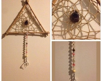 "9"" Triangle Elk Horn Dream Catcher"