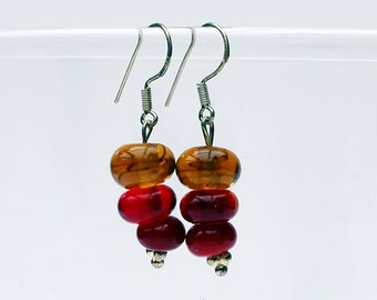 NeufNeuf red/orange earrings