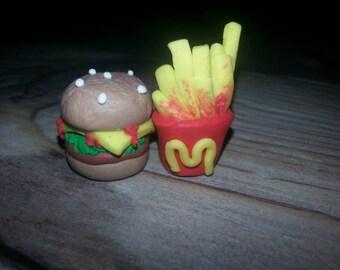 Fast Food Fimo set