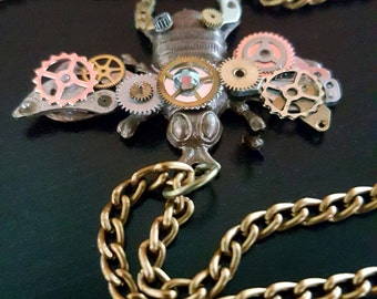 Steampunk Bee Necklace