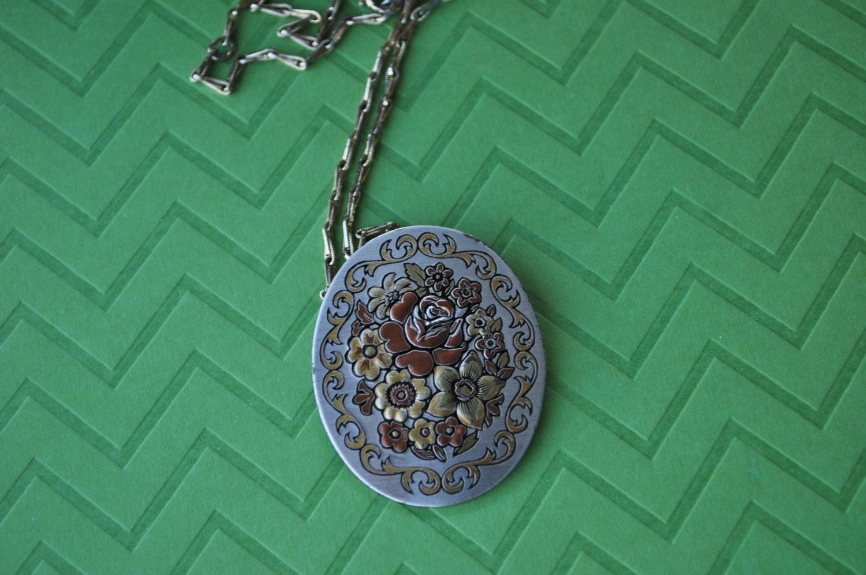 Vintage Damascene Necklace Signed Reed & Barton Necklace | 1500 x 996 jpeg 325kB
