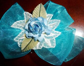 little blue bow