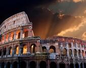 The Coliseum of Ancient Rome Landscape Photograph