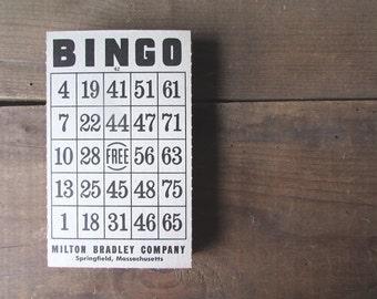 Bingo Card Vintage Paper Ephemera Milton Bradley