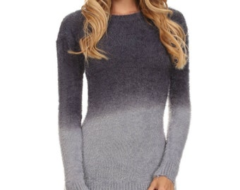 Grey Ombre Sweater