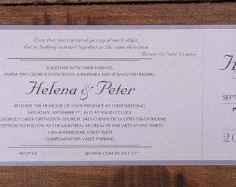 Wedding Invitations Ticket