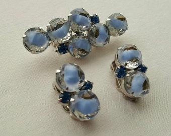 Vintage pin and earrings