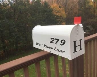 Mailbox Lettering - Custom Vinyl lettering - Monogrammed - Street Address