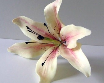 Gumpaste Stargazer Lily Wedding Cake Topper Cake Topper Cake Decoration Gumpaste Flower