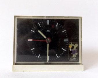 Vintage 1970s Alarm clock PRIM czechoslovakia bakelite retro old desk table